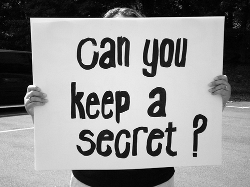 keeping secrets ​there are many times in life where we wish to keep secrets or hold back from  telling the truth we think that we are protecting ourselves and we even falsely.